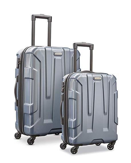 centric expandable hardside pc luggage set spinner