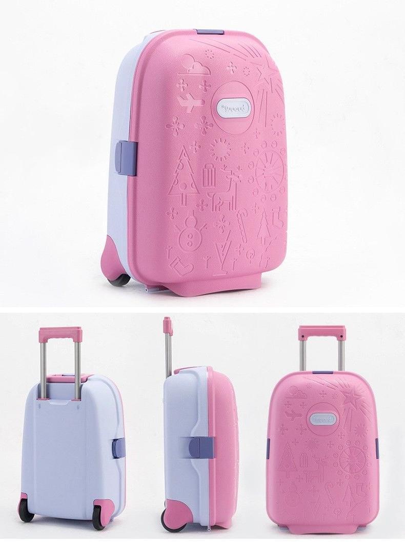 Children Wheeled Suitcase Unisex Luggage Kids