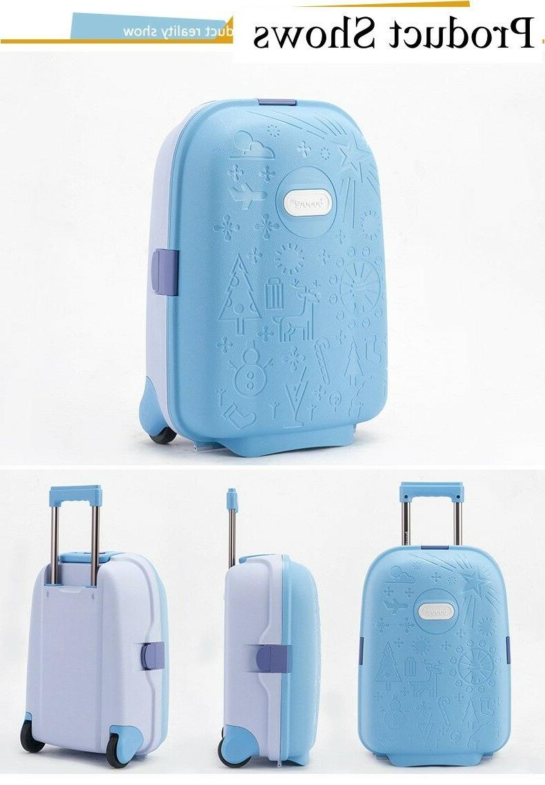Children Suitcase Unisex Spinner Luggage Kids Rolling
