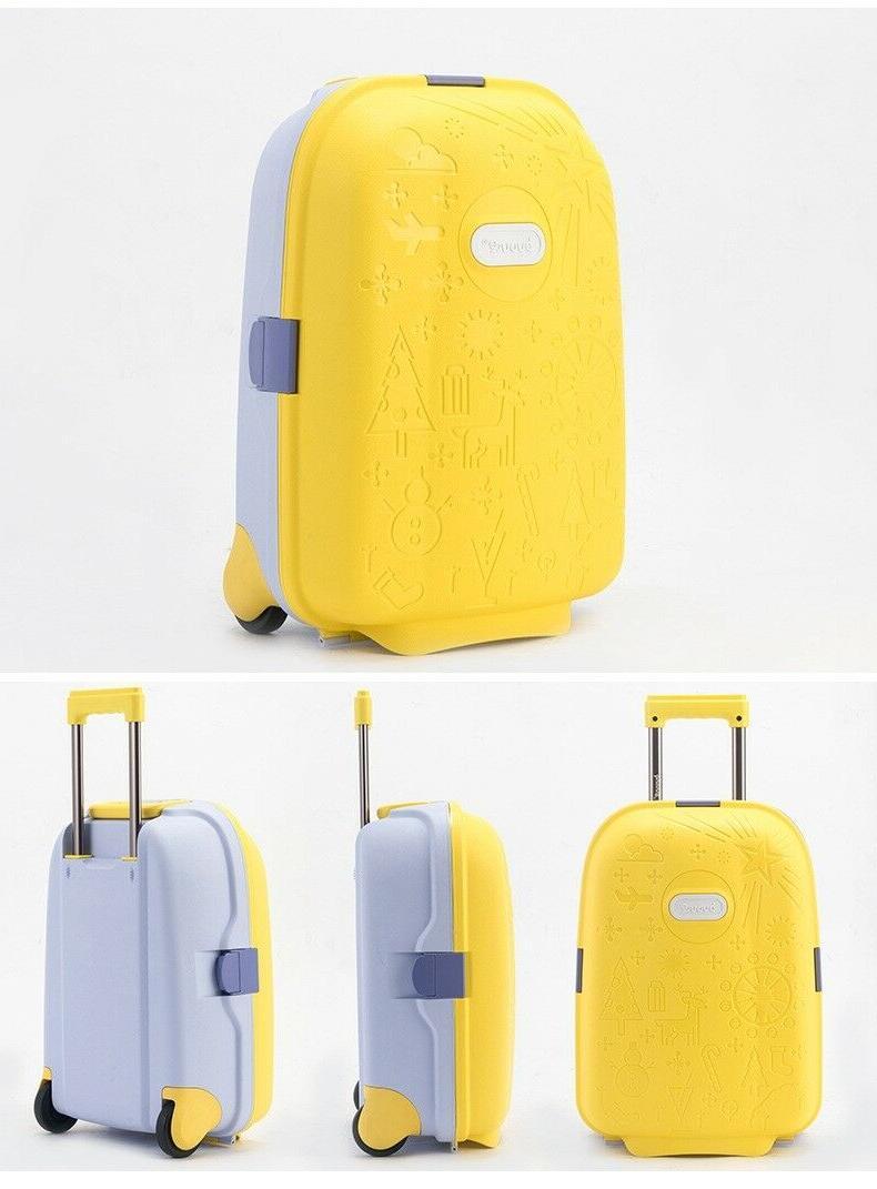 Children Suitcase Unisex Spinner Kids Rolling