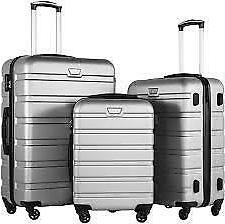 coolife luggage 3 piece set suitcase spinner
