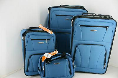 deluxe expandable luggage set
