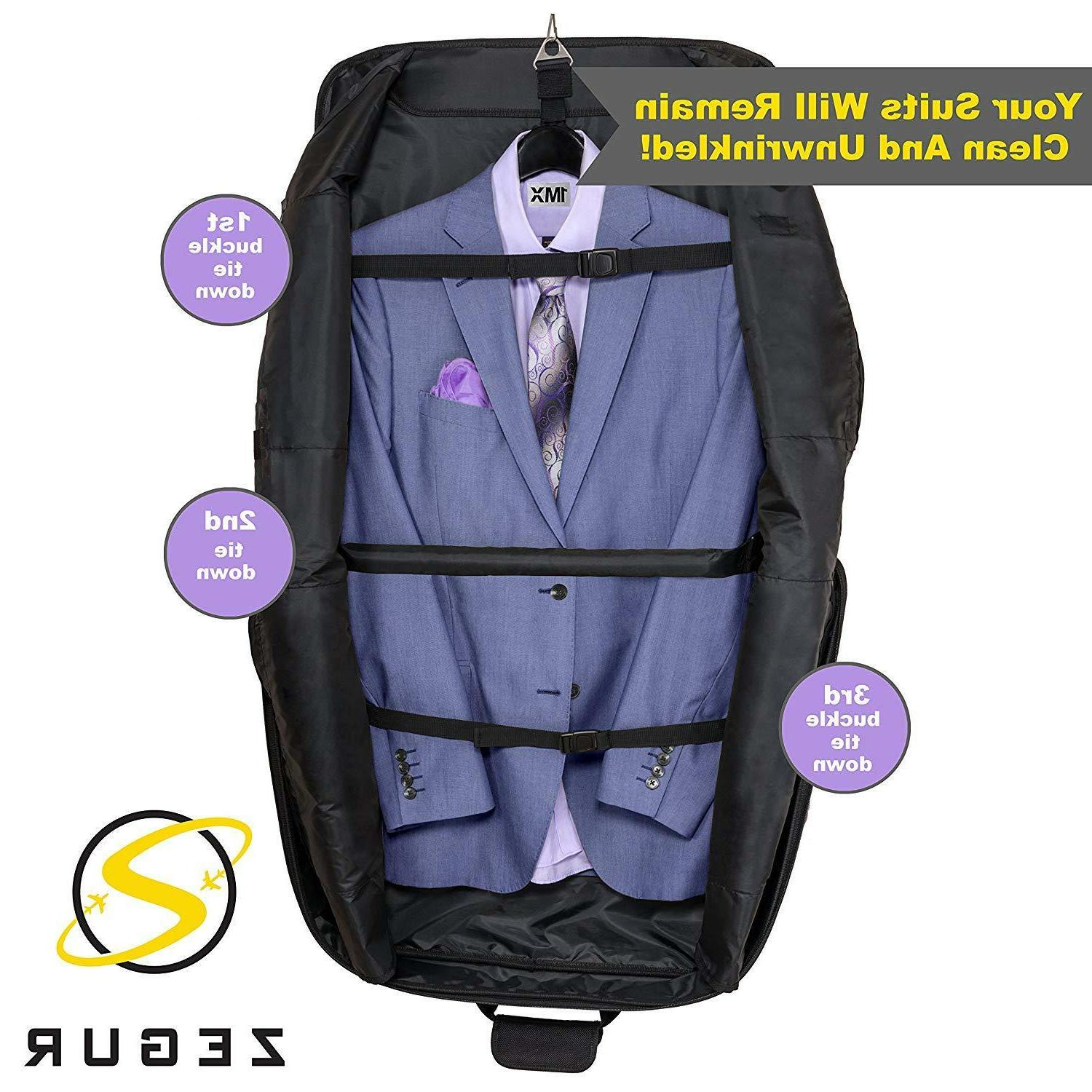 Zegur On Garment Bag Travel & w/Shoulder Straps