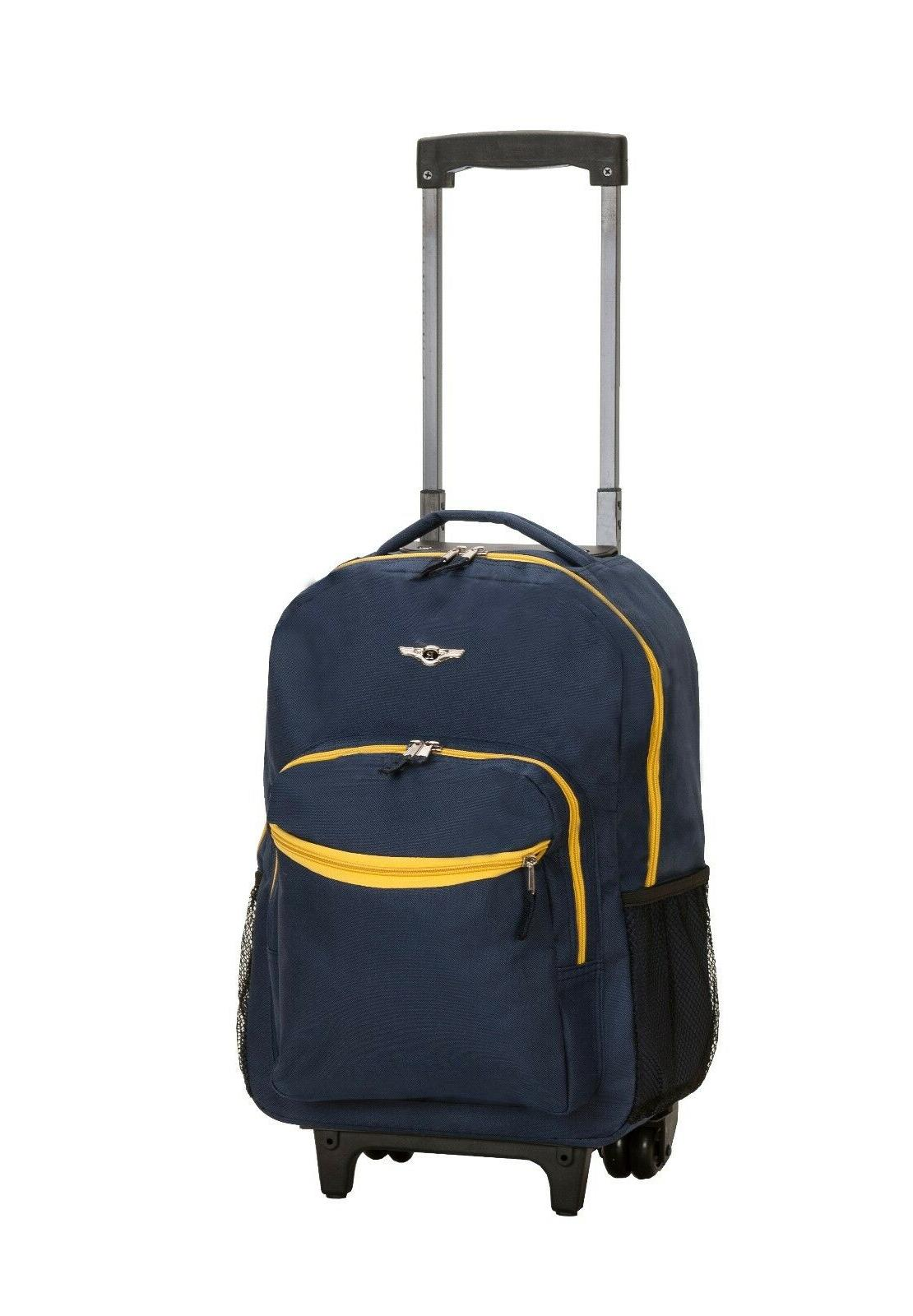 Deluxe Wheel Backpack Luggage Travel