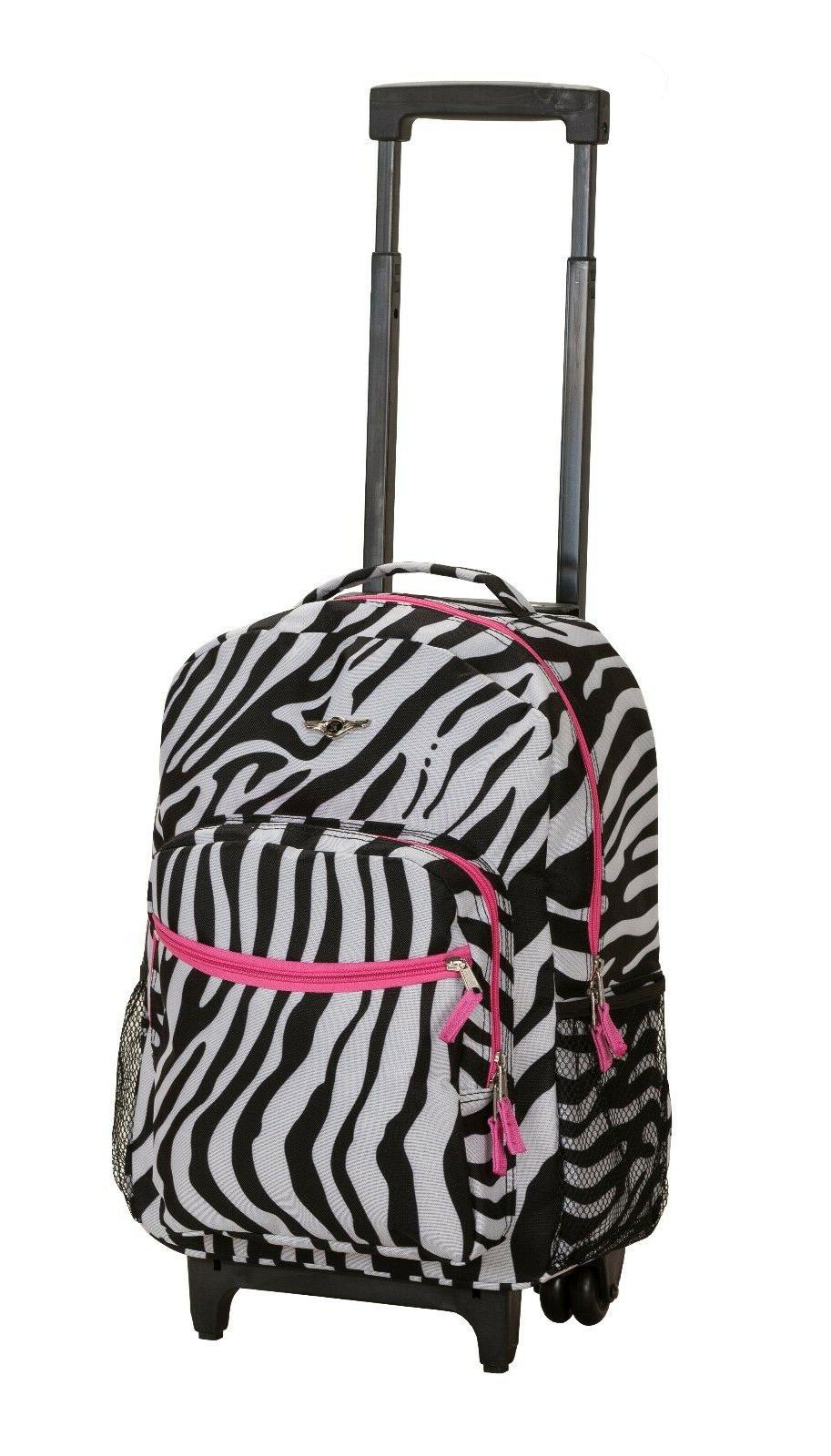 "Deluxe Wheel 17"" Carry on Travel Luggage Bag"