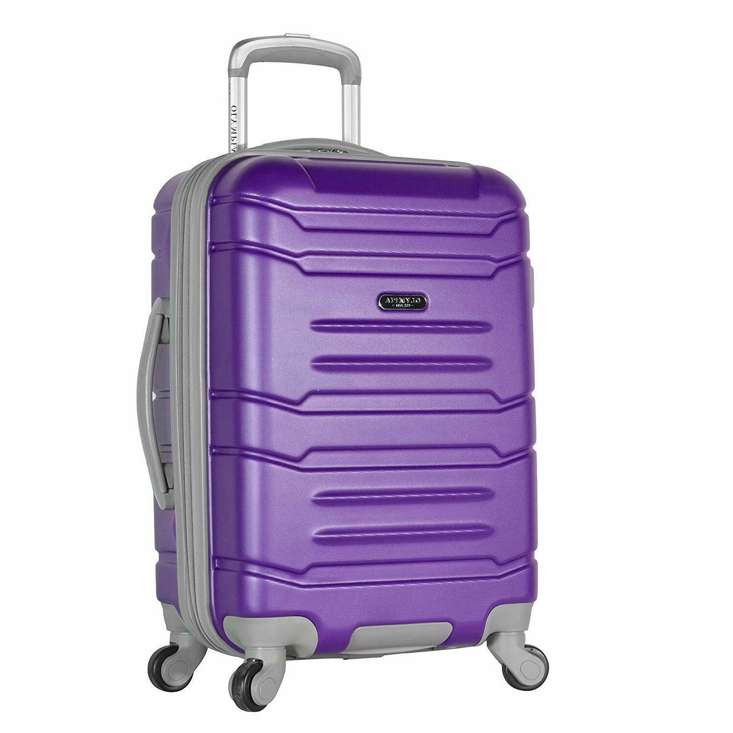 "Olympia Denmark 21"" Carry-on Spinner, Purple / SHIPPING 2 DA"