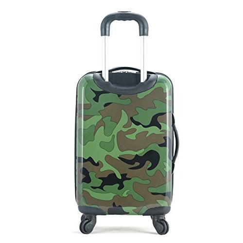Rockland Designer Leopard 20-inch Lightweight Hardside On Suitcase