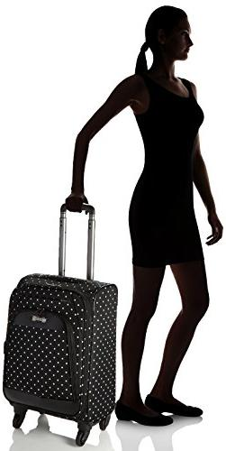 Kenneth Cole Dot Matrix Dot Polyester Spinner Luggage,