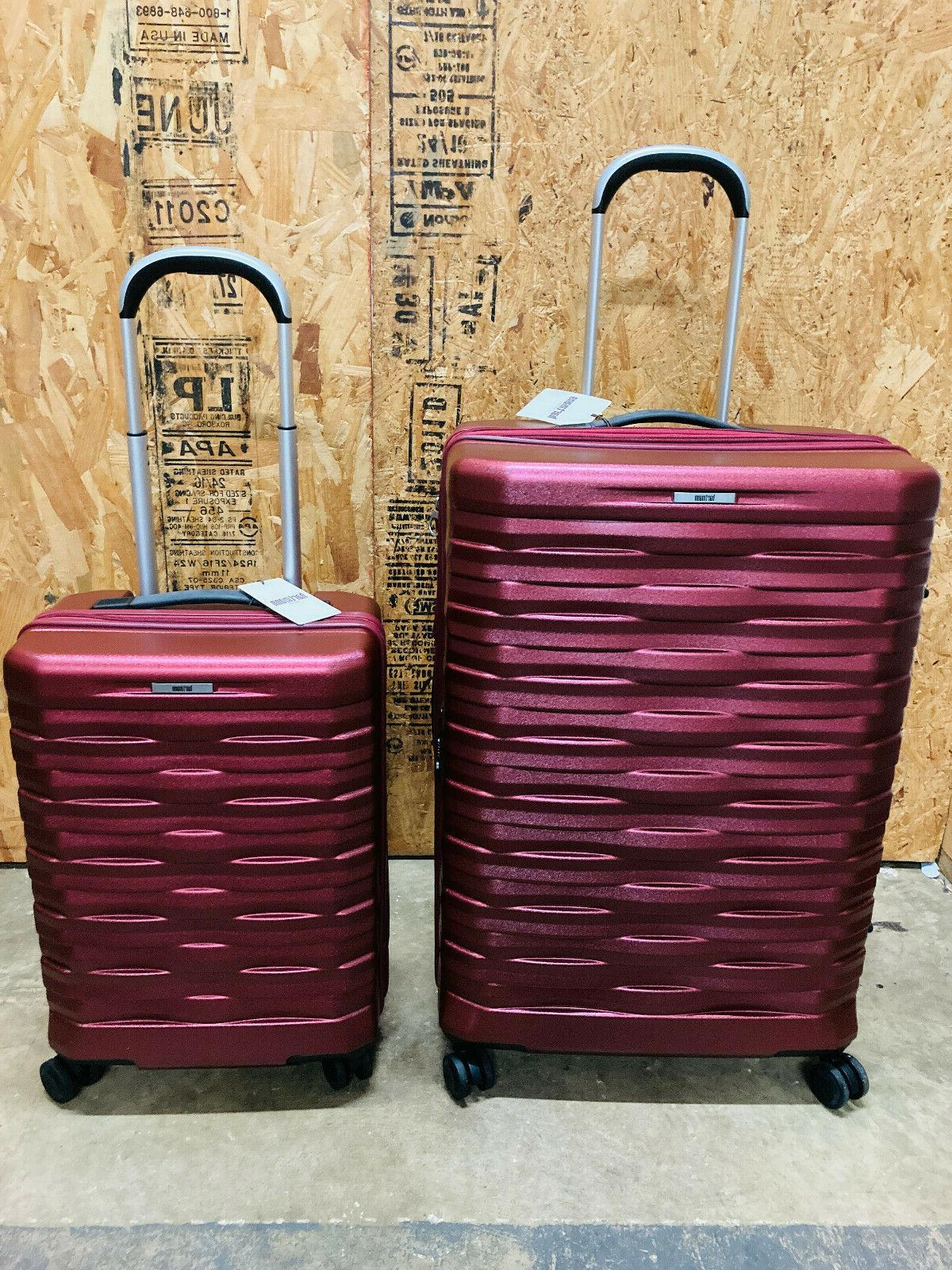 excelsior red 2 pc spinner suitcase luggage