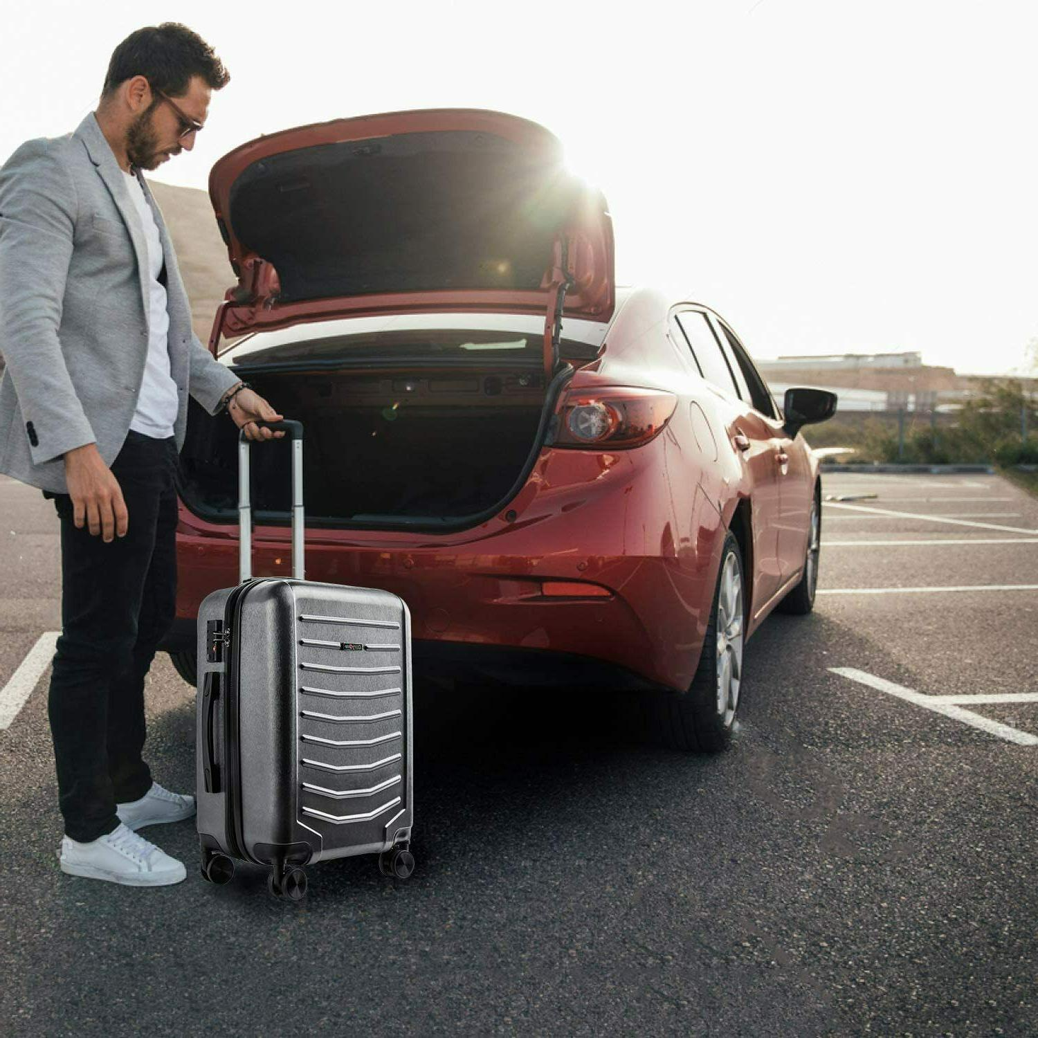 CarryOne Inch Carry Luggage Travel Suitcase with 8 Sile