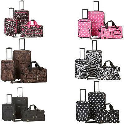 fashion expandable 3 piece luggage set
