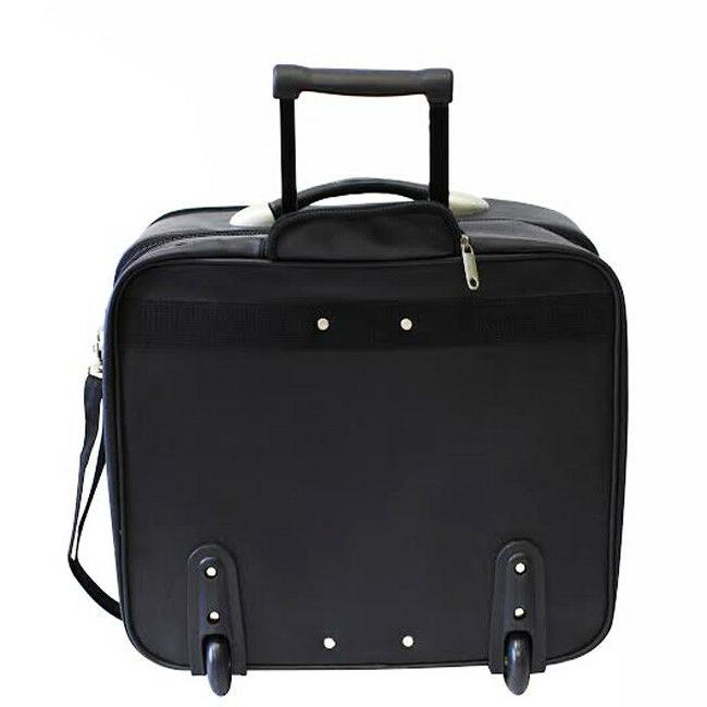 GENUINE LEATHER ROLLING BRIEFCASE SAMSONITE MOBILE OFFICE