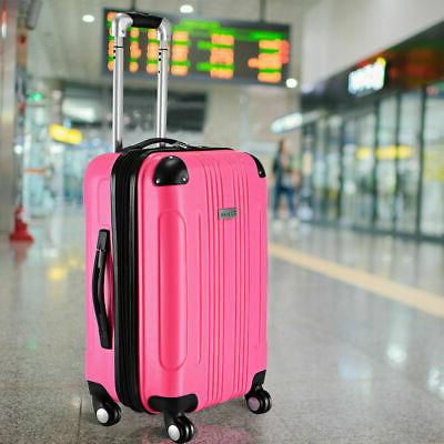 """GLOBALWAY Expandable 20"""" ABS Luggage Carry on Travel Bag Tro"""