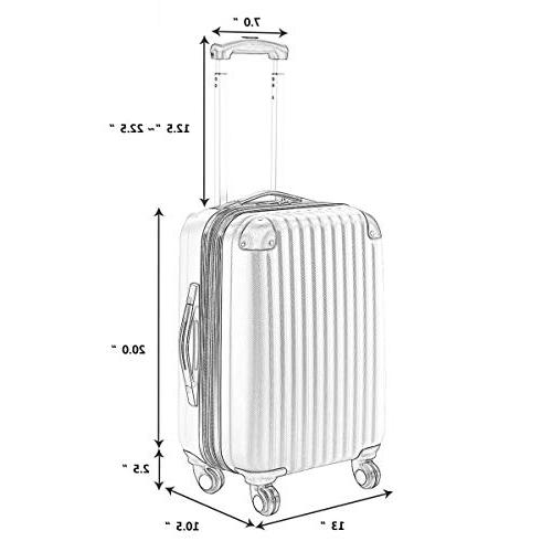 Goplus On Expandable Travel Bag Suitcase GLOBALWAY