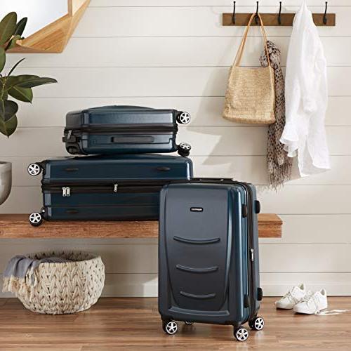 AmazonBasics Spinner Luggage - Navy Blue