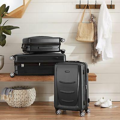 AmazonBasics Hardshell Luggage, Slate