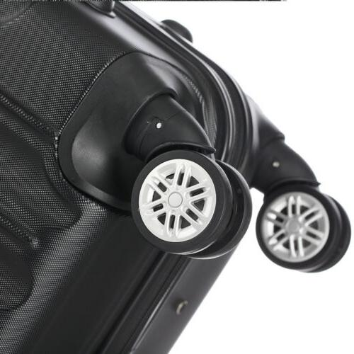 3 ABS Trolley Carry Case Bag Spinner Hard