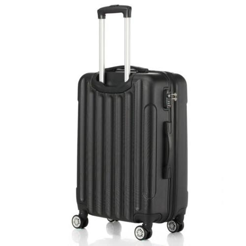 3 Piece ABS Trolley Case Bag Spinner Hard Shell Suitcase