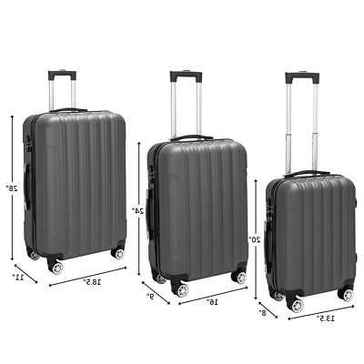 Spinner Suitcase Travel Luggage Set w/