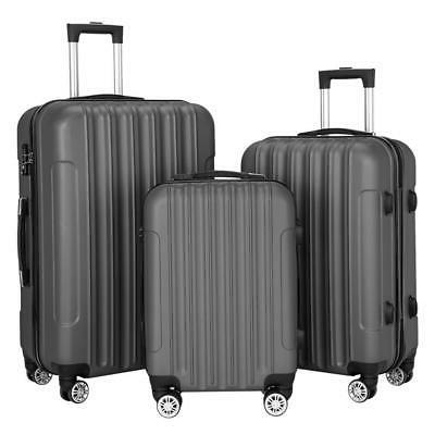 hardside 3 piece nested spinner suitcase travel