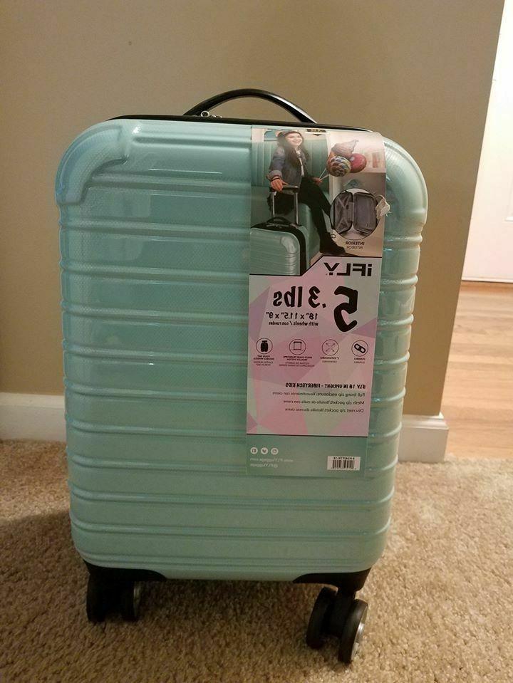 hardside kids fibertech luggage mint 18