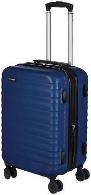 AmazonBasics Hardside Spinner Luggage - 20-Inch, Navy Blue
