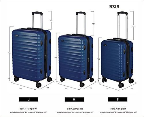 AmazonBasics Spinner Luggage - 2 Piece Set , Navy