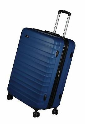 hardside spinner luggage 28 inch navy blue