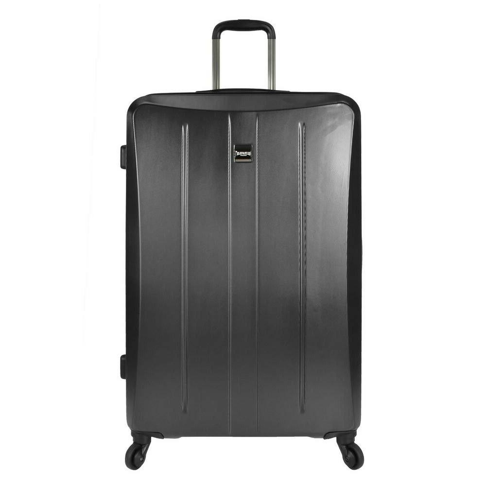 hardside spinner suitcase charcoal multi stage locking