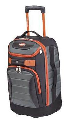 """Harley-Davidson 21"""" Quilted Carry-On Luggage Bag w/ Wheels 9"""