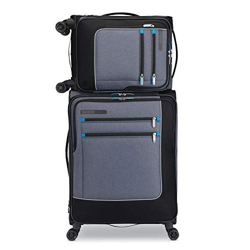 American Tourister iStack System Softside Set with Double Air Flow Spinner