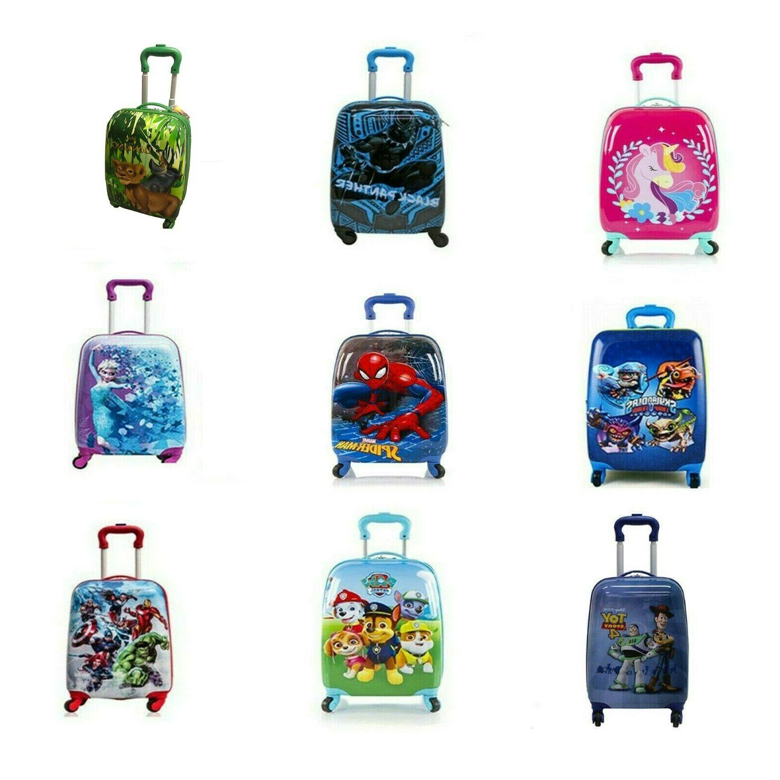 kids hard side carry on luggage case