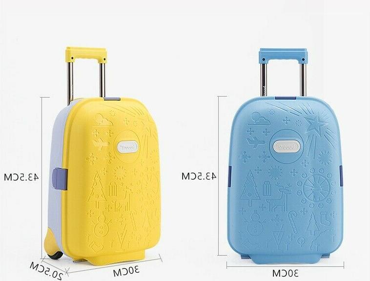 Kids Unisex Travel Luggage Spinner Wheeled Bags