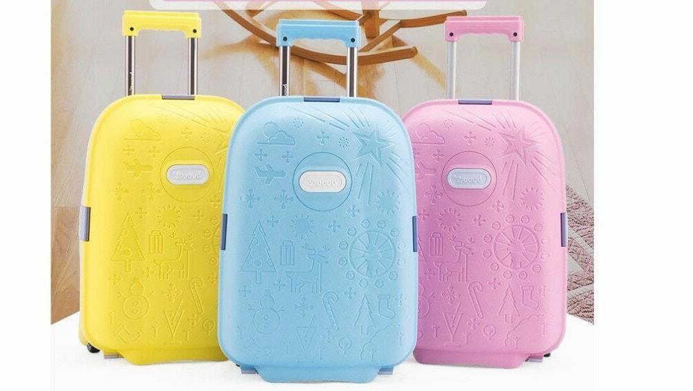 Kids Unisex Travel Luggage Spinner Wheeled Bags
