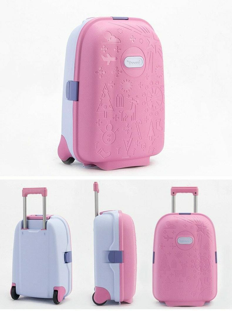 Kids Travel Spinner Suitcase Wheeled Trolley Bags