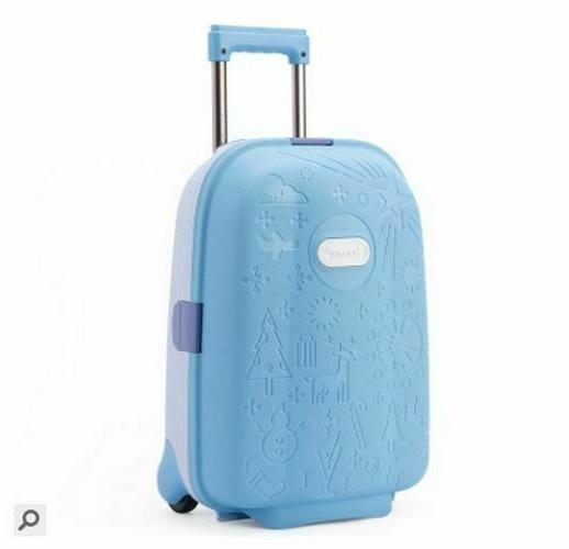 kids unisex travel luggage spinner solid suitcase
