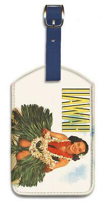 Leatherette Travel Luggage Tag Baggage Label - Hawaiian Hula
