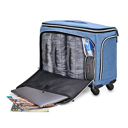Biaggi Luggage Off Expandable Check in, Blue