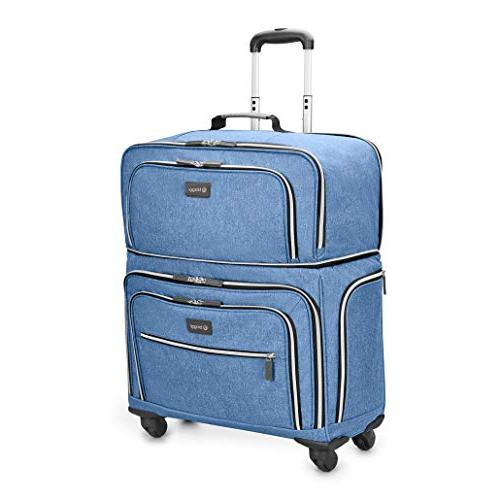 Biaggi Lift Off Expandable Carry-on in, Denim Blue