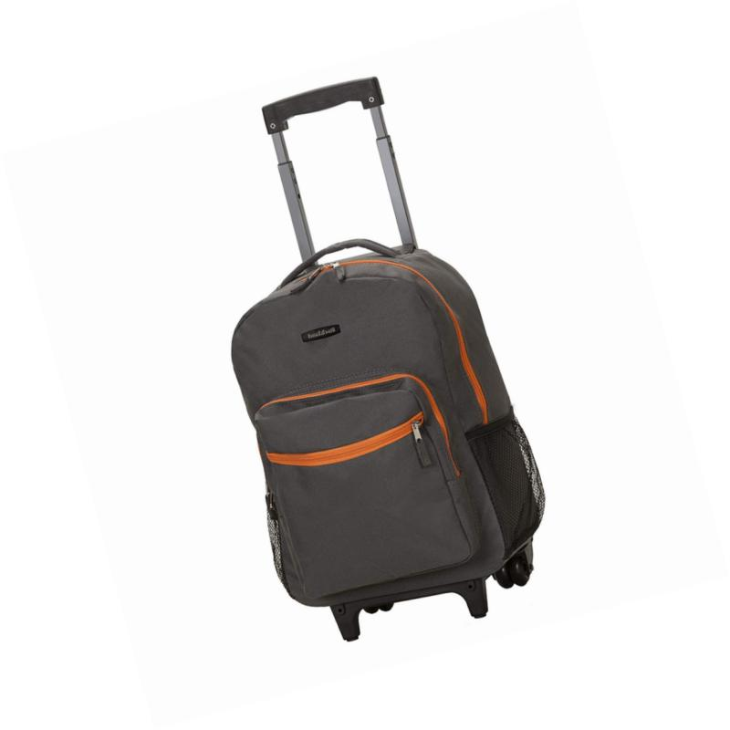 luggage 17 inch rolling backpack charcoal one