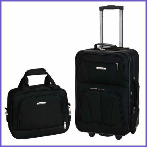 luggage 2 pc set black medium