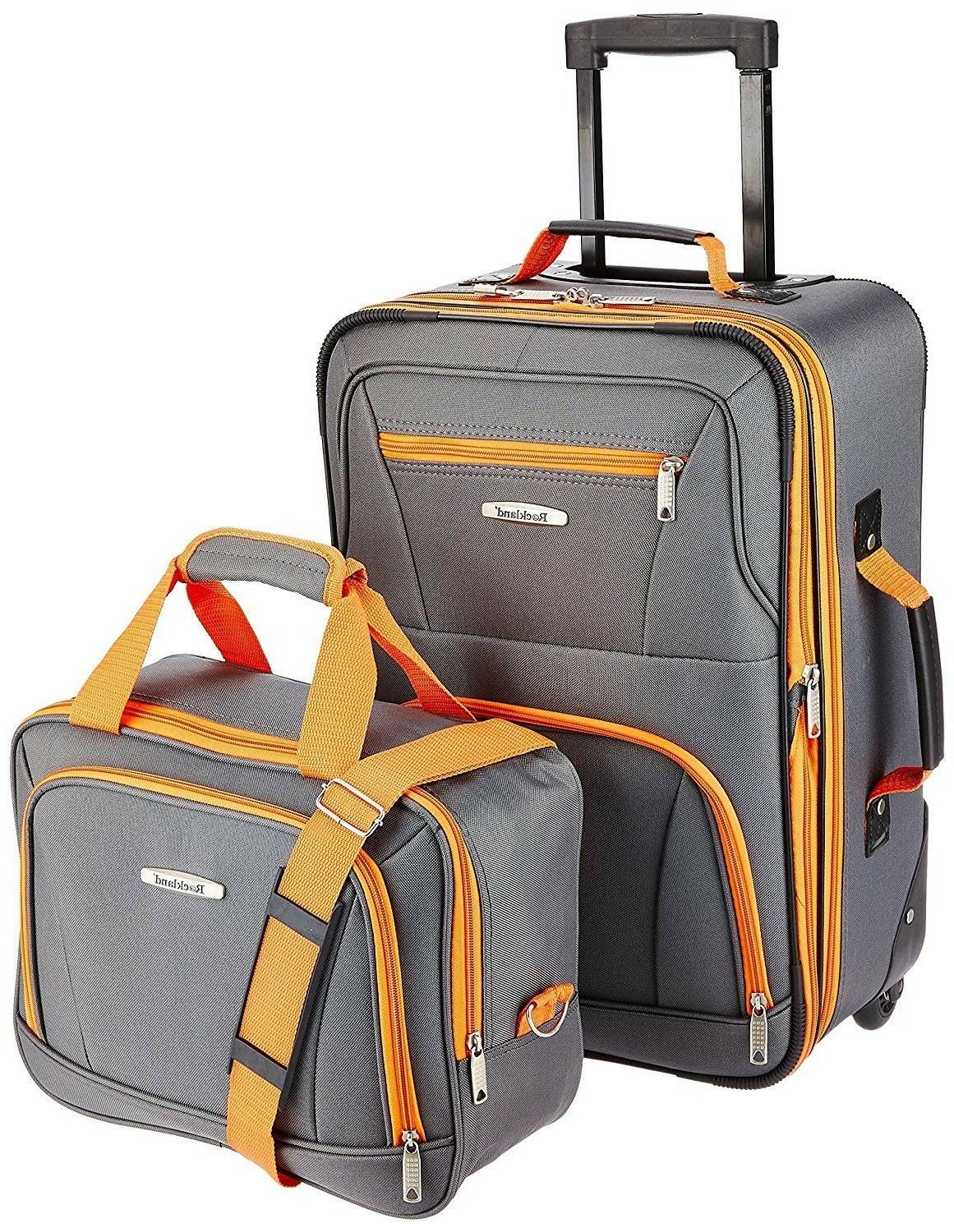 luggage 2 piece set charcoal one size