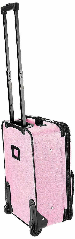 Rockland Luggage Set, Pink,