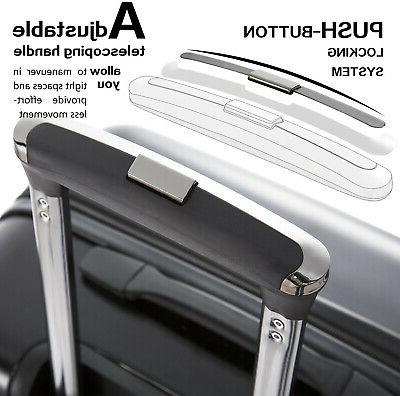 COOLIFE On Suitcase Spinner Built-in TSA Lock Black New