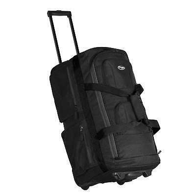 luggage 22 8 pocket rolling duffel bag