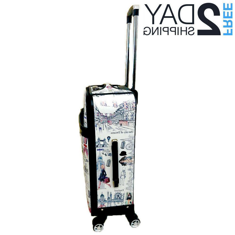 "Luggage 25"" Trolley Wheeled Spinner Set Bag Suitcase"
