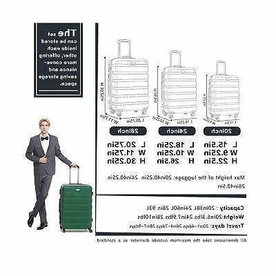 COOLIFE Luggage Piece Set Lightweight