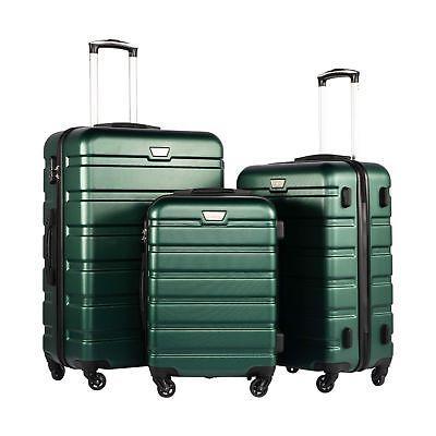 luggage 3 piece set suitcase spinner hardshell