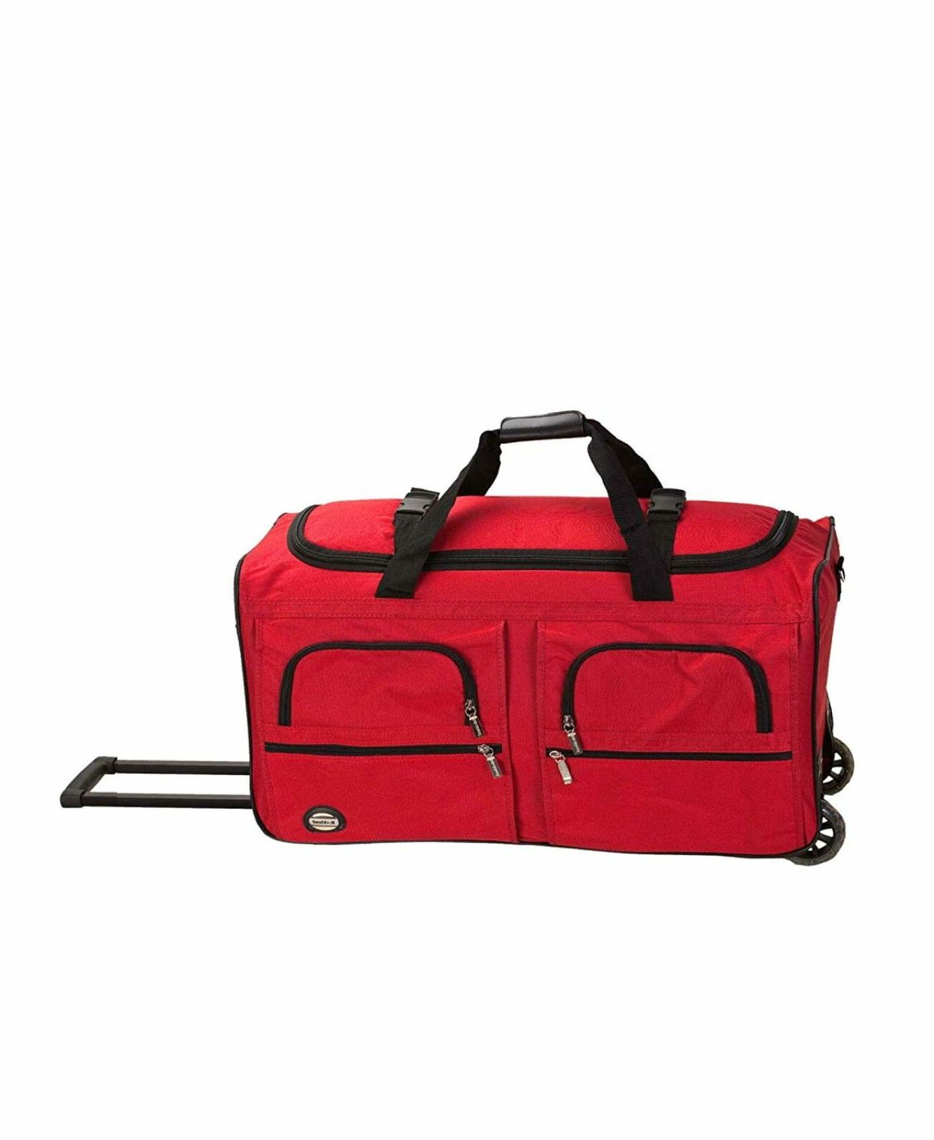 luggage 36 inch rolling duffle bag red