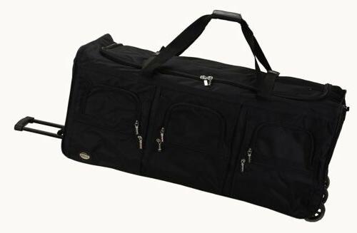 luggage 40 inch rolling duffle bag black